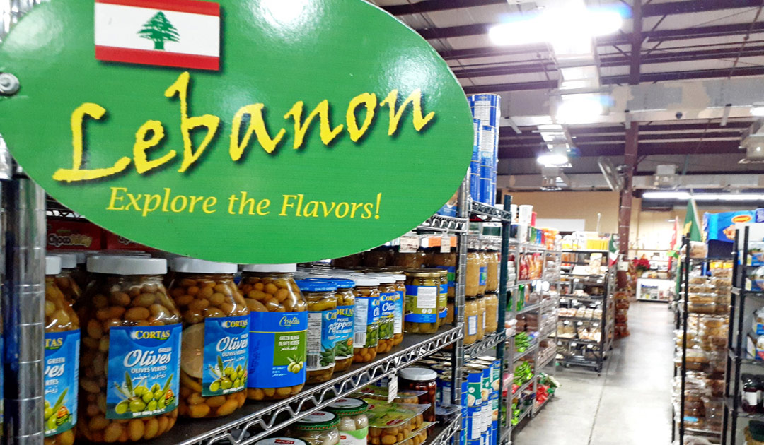 Large Selection of Lebanese Food Products.